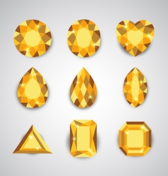 yellow gem vector image