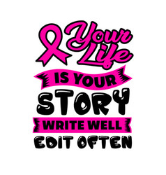 Your life is your story vector