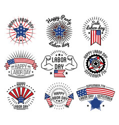 happy labor day on september 7th in usa vector image
