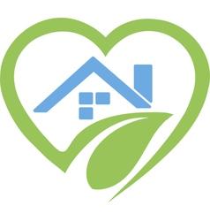 House in Heart Logo vector image