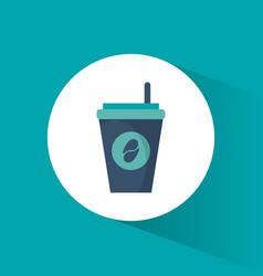 Paper coffee cup beverage vector