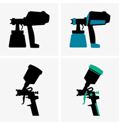 Spray guns vector image