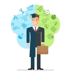 student and businessman vector image