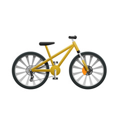 transport isolated yellow modern sport bicycle vector image