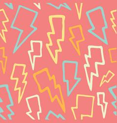 cute cartoon hand drawn thunder bolts seamless vector image vector image