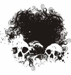 fear grunge skulls illustration vector image vector image