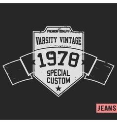 Shield vintage stamp vector image
