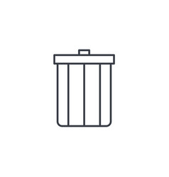 trash garbage thin line icon linear vector image