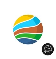 Travel theme round badge logo vector image vector image
