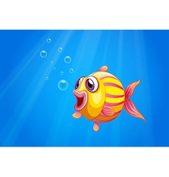 A colorful bubble fish under the sea vector image vector image