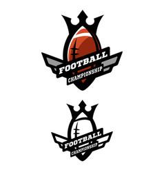 american football two options logo vector image vector image