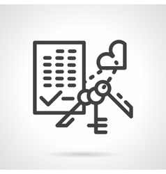 Apartment purchase simple line icon vector image