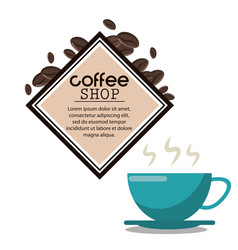 coffee shop cup hot drink vector image
