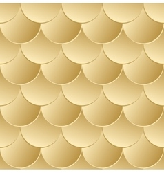 Fish scale golden seamless pattern vector image vector image
