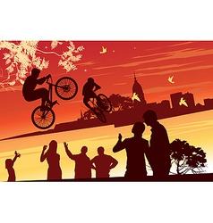 performance bikes vector image vector image