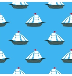 Sea Ships Silhouettes vector image
