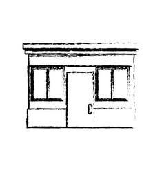 sketch facade store door windows image vector image vector image