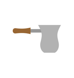 turk coffee isolated utensils for cooking drink vector image