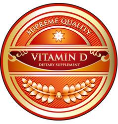 Vitamin d icon vector