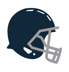 blue football helmet protection equipment side vector image