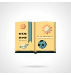 Book on astronomy flat color icon vector image