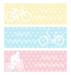 bycycle vintage vector image