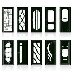 modern front doors vector image