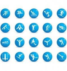 sports figures vector image vector image