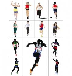 sprinters vector image vector image