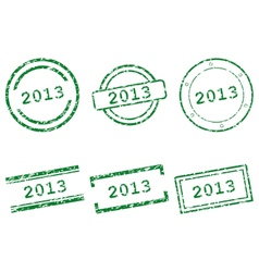 Stamps 2013 vector image