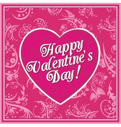 Valentines day vintage lettering background - vector image