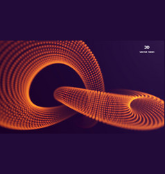 3d abstract particle composition lines vector