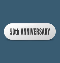 50th anniversary button sticker banner rounded vector