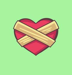 A closed heart vector