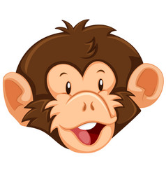 a monkey face on white background vector image