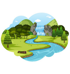 a river in nature landscape vector image