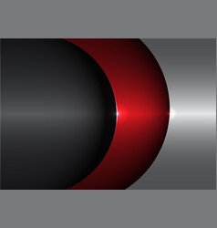 Abstract metal red gray shape curve vector