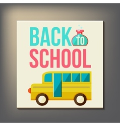 Back to school design template vector image