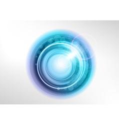background blue light center star vector image vector image