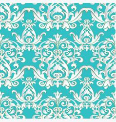 Baroque damask elegance seamless pattern vector