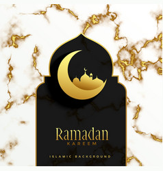 beautiful islamic ramadan kareem festival design vector image