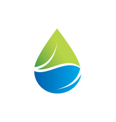Bio organic droplet logo vector