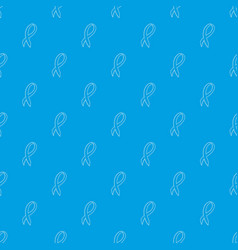 black ribbon pattern seamless blue vector image