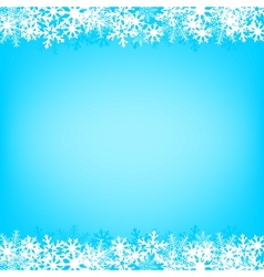 blue snow background vector image