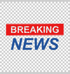 Breaking news icon news flat communication vector