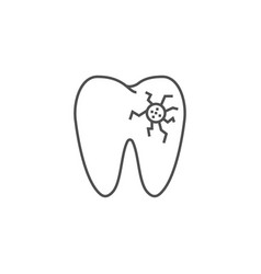 caries line icon vector image