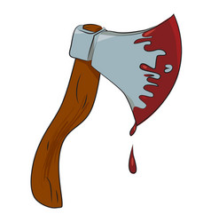 cartoon image of bloody axe vector image