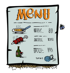 Cartoon image of menu icon vector