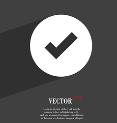 Check mark tik icon symbol Flat modern web design vector