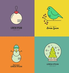 Christmas Logotypes vector image